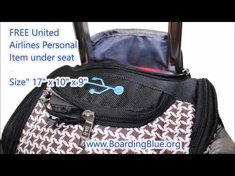 United Airlines Free Free Under Seat Bag