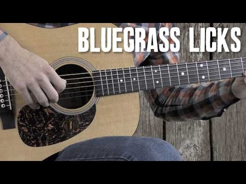 Country & Bluegrass Flatpicking Licks in the Key of D - Guitar Lesson Tutorial