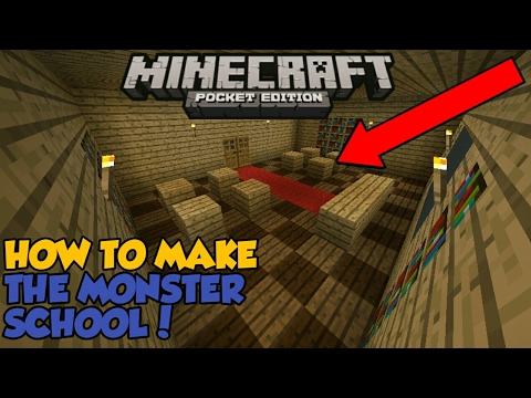 Minecraft PE | How To Make The Monster School | Creation