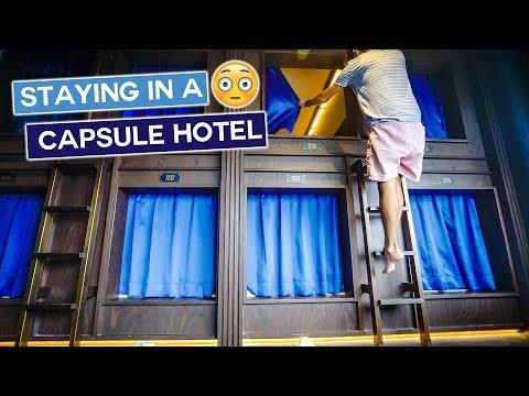 Tokyo Capsule Hotel Experience   Japan Travel Vlog