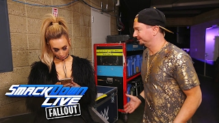 Carmella tells James Ellsworth that they must put on the brakes: SmackDown LIVE Fallout, Feb 7, 2017