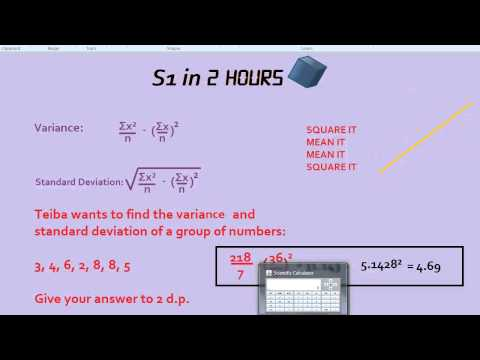 S1 in 2 Hours: Variance and Standard Deviation
