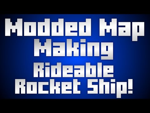 Modded Map Making EP7: Rideable Rocket Ship! [Xbox 360 Minecraft Mod]