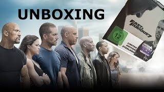Fast and Furious 7 - Limited Steelbook Cover B (Media Markt Exclusive) - Unboxing - German Deutsch