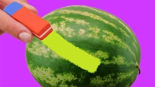 4 ASTONISHING LIFE HACKS AND DIY WITH WATERMELON