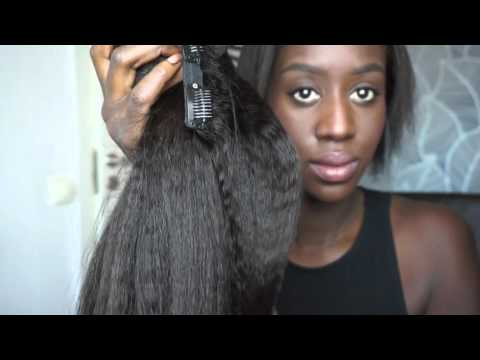 How to Install CLIP-IN Extension on Short Thin Hair: Knappy Hair Extensions