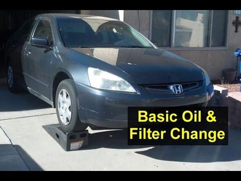 Basic oil change and filter change, Honda Accord, I4, 4 cylinder - VOTD
