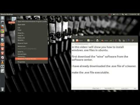 How to install Windows .exe in Linux (Ubuntu 13.04)