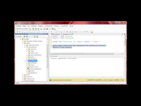 Tutorial 08 de SQL Server 2008 - Insert, default y agregar campo a tabla