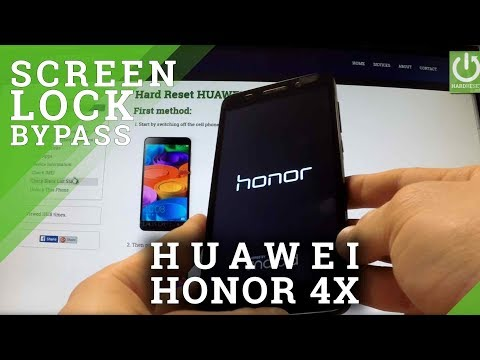 Hard Reset HUAWEI Honor 4X - reset Pattern and Password by Recovery Mode