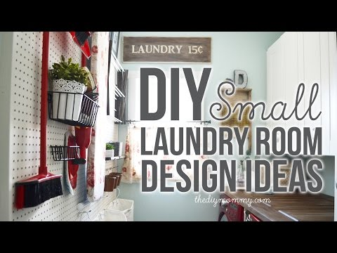 DIY Small Laundry Room Decor & Organization Ideas