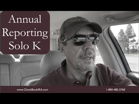 Annual Reporting for a Solo 401(k)