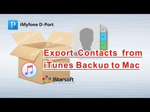 Export Contacts from iTunes Backup to Mac