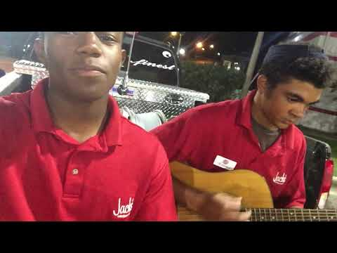 Two Jack's employees singing after work! Must Watch!
