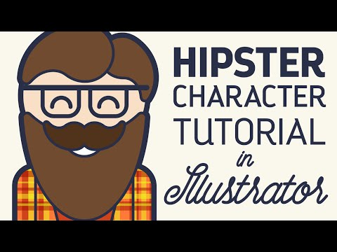 Vector Hipster Character Illustrator Tutorial