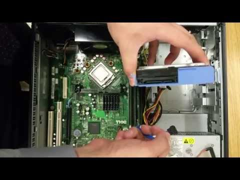 Installing a Hard Disk Drive and CD/DVD Drive  in a Dell Optiplex GX620 Motherboard
