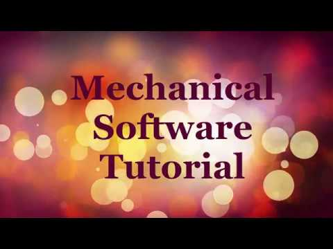 Mechanical Software Basic Tutorial Autocad Solidworks Catia V6 Ansys