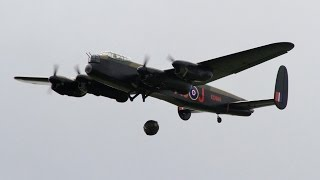 FOUR GIANT 1/6 SCALE RC AVRO LANCASTERS HERITAGE FLIGHT DISPLAY LMA MODEL AIRCRAFT EAST KIRKBY 2015