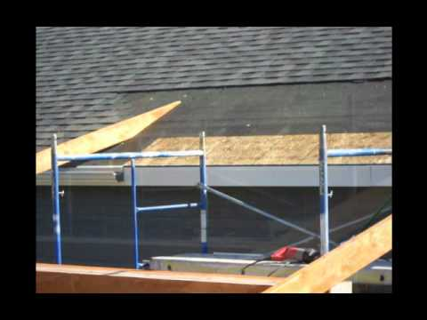 Construction of a roof addition over an existing concrete patio in Bozeman, MT part 2