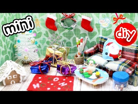 DIY CHRISTMAS DOLLHOUSE ROOM! (GINGERBREAD HOUSE, CHRISTMAS TREE, GIFTS!) - NOT A KIT!