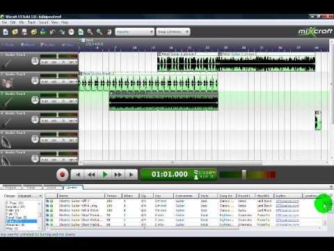 Garage Band Like Program for Windows Called Mixcraft
