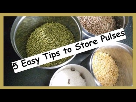 5 Easy Tips to Store Pulses | How to protect Pulses from Insects | Kitchen Tips by Healthy Kadai