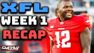 A Look Back at Week 1 in the XFL! Game Recaps, Stand Out Players, Tv Ratings, and More! (XFL News)