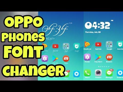 OPPO Font Changer | OPPO A57 / OPPO phones Font Change