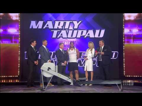 NRL Footy Show Marty Taupau Rowing World Record Attempt