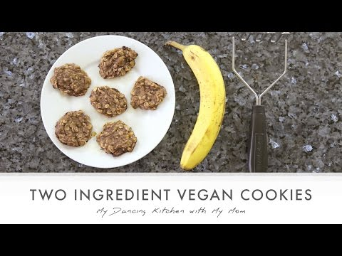 Two Ingredient Vegan Cookies (My Dancing Kitchen with My Mom)