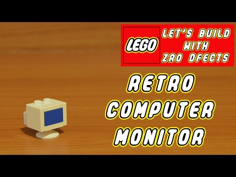 Lego Let's Build - Retro Computer Monitor