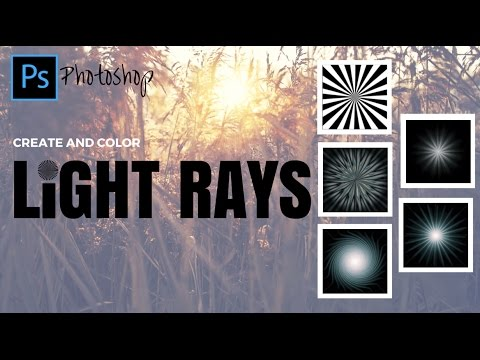 Create & Color Light Rays in Photoshop - Make Sunbursts and Star Lights