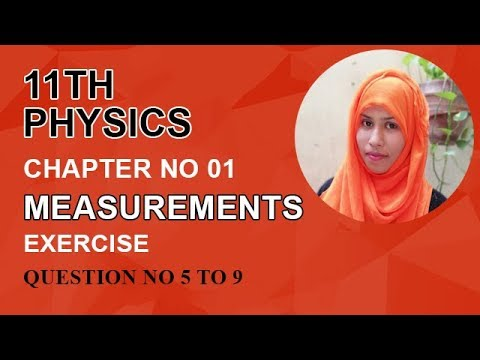 FSC Physics book 1, Ch 1, Exercise Question, Question no 5 to 9 -Inter Part 1 Physics