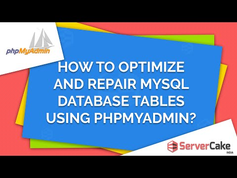 How to optimize and repair MySQL Database tables using phpMyAdmin in cPanel - ServerCake India