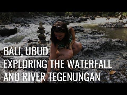 Bali, Ubud- exploring the waterfall and river Tegenungan