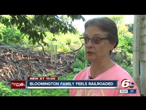 Indiana railroad company clears neighborhood trees without notice