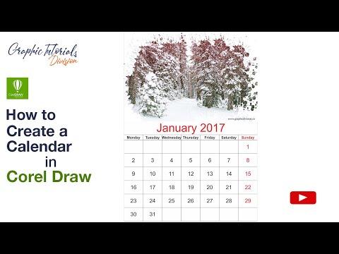 Corel Draw Tutorial: How to create a Calendar