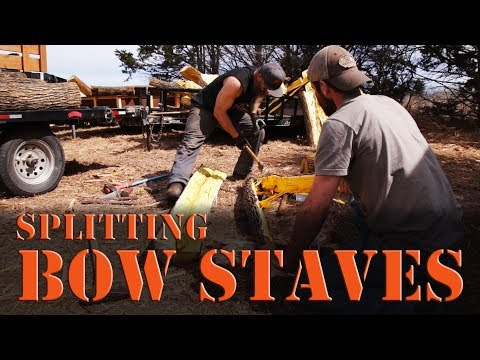 How to split bow staves from Osage or other bow wood