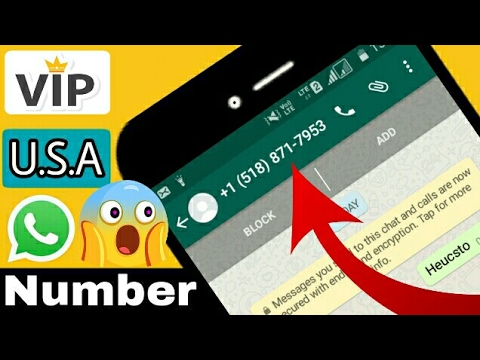 Whatsapp latest trick of U.S.A number | get V.I.P no. FREE