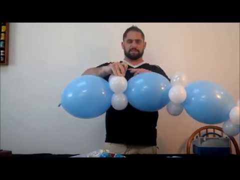 Easy Baby shower Balloon arch decoration DIY  No helium required!