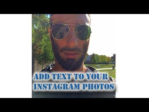 Text On Instagram Photos IOS Photo Editor