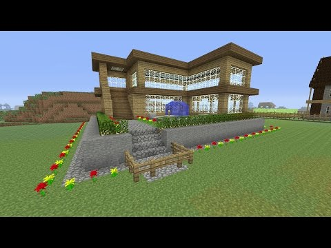 Minecraft Tutorial: How To Make An Awesome Wooden Survival House #2 (ASH#16)