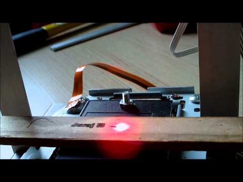 Home made laser cutter and engraver
