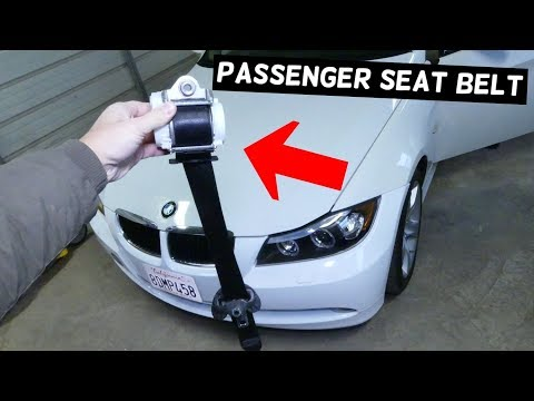 HOW TO REMOVE AND REPLACE FRONT RIGHT PASSENGER SEAT BELT