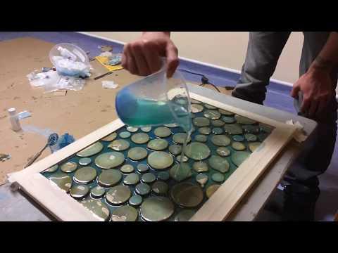 Making Epoxy Resin and Wood Wall Art