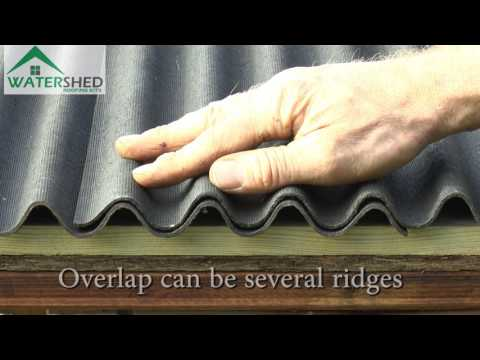 WaterShed Roofing Kits: How to re-roof your shed without roofing felt.
