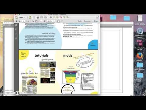 Creating a portfolio using InDesign