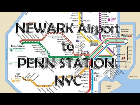 Newark airport to NYC penn station