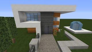 Minecraft Modernes Haus Schlicht Grauweiß Bauen Tutorial - Minecraft grobes haus bauen tutorial deutsch