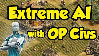 Extreme AI plays with OP Custom Civs [AoE2]